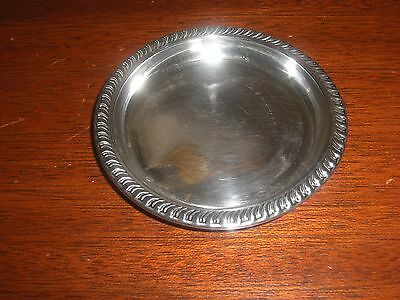 Vintage Sterling Silver Decorated Butter Pat