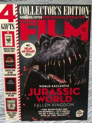 Jurassic World Total Film Magazine Collectors Roaring Edition June 2018 4 GIFTS