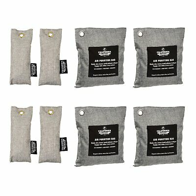 8 Pack Activated Air Purifying Charcoal Deodorizer for Gym Bag & Shoe Odor Set