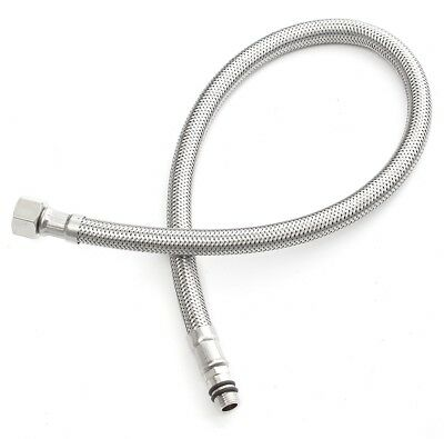 2PCS STAINLESS Steel Flexible 1/2\'\' ID Water Supply Line Hoses fit ...