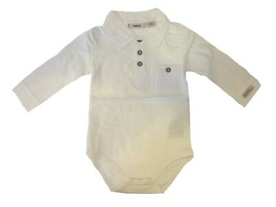 Baby Body Suit for Boys with Collar Paper sz. 62 from Mexx
