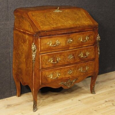 Fore secretary desk furniture secrétaire french inlaid antique style louis XV