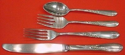Silver Wheat By Reed and Barton Sterling Silver Dinner Size Place Setting(s) 4pc