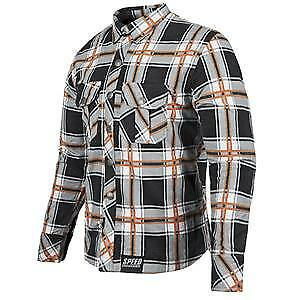 Speed & Strength Rust and Redemption Mens Armored Long Sleeve Shirt Black/Orange