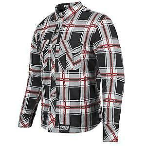Speed & Strength Rust and Redemption Mens Armored Long Sleeve Shirt Black/Red