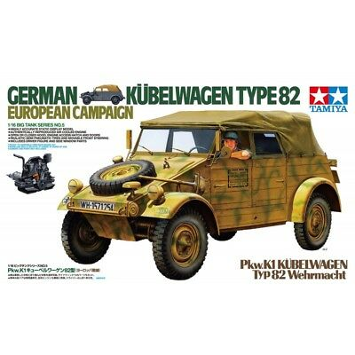 Tamiya 1/16 German Kubelwagen Type 82: European Campaign Kit (New)