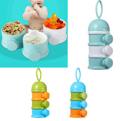 Baby Infant Feeding Milk Powder Food Bottle Container Portable 3 Cells Grid Box