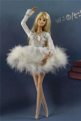 Lovely Fashion White Dress/Clothes/Ballet Skirt tutu+Legging For 11.5in.Doll