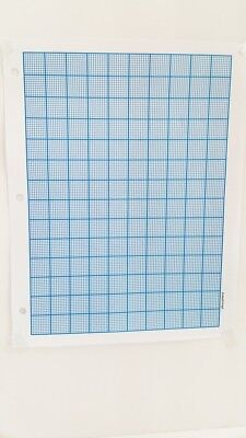 "JOMA Graph Paper 2 mm Grid Sheets (50  Pages) A4 8.5"" x11"" CYAN .5 pt lines NEW"