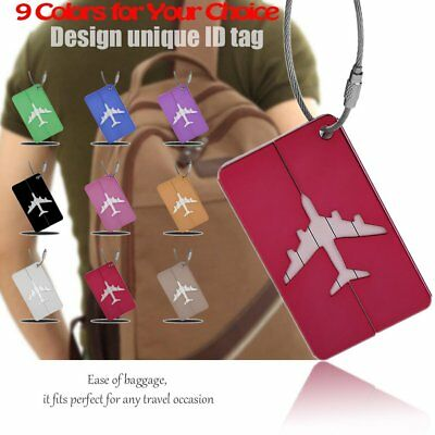 High Quality Metal Luggage Tag Aluminum Alloy Air Plane Travel Identity Card GUZ