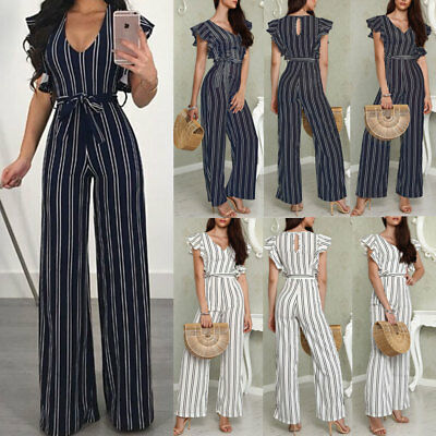 Women's Clubwear Playsuit Bodysuit Party Jumpsuit Romper Chiffon Long Trousers Y