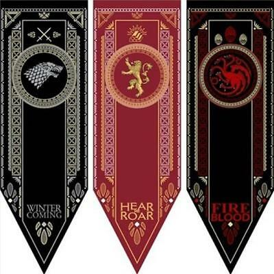 Game of Thrones Stark Targaryen Greyjoy Lannister House Hanging Flag Banner 8C