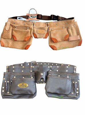 Leather Nail Double Pouch Trade Quality Tool Belt  Nail Bag