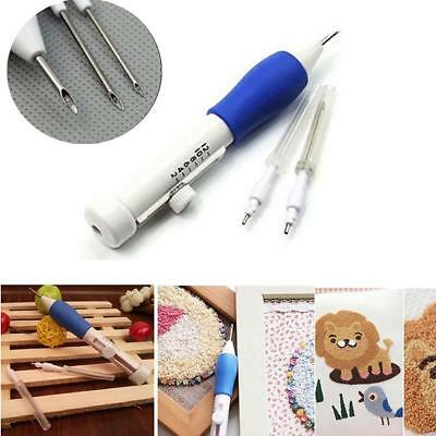 Embroidery Needle Pen Kit Craft Tool Thread Punch Magic DIY Knitting Supply 8C