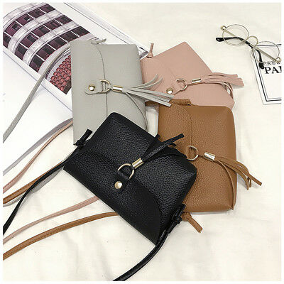 Women Ladies Small Bag Mini Messenger Tassel Shoulder Bags Vintage Handbag Tote