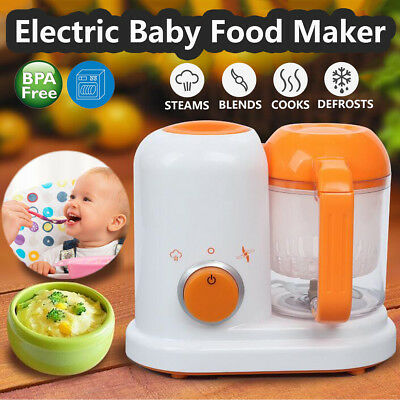Electric Baby Food Maker All In One Toddler Blender Steamer Processor BPA Free