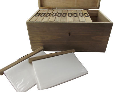 Picture Photo Albums Box Rustic Vintage Photo Storage Wooden Chest - Gift