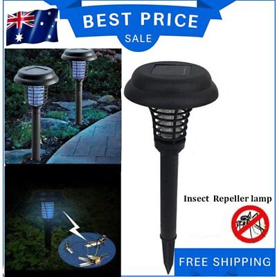 Solar  LED Light  Bug Zapper Mosquito Fly Insect Repeller Killer Garden Path AU