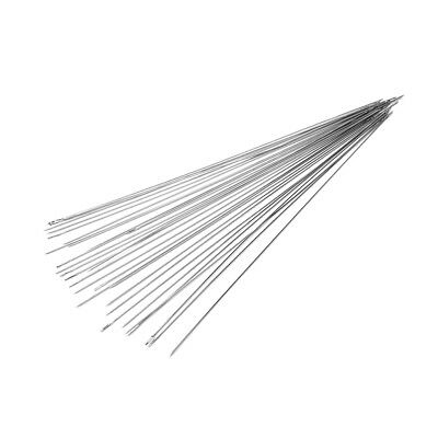 30 pcs stainless steel Big Eye Beading Needles Easy Thread 120x0.6mm Fine OH