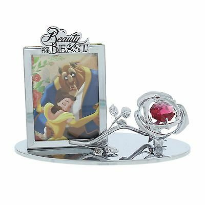 Beauty and The Beast Chrome plated rose photo  disney frame ornament