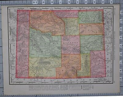 1906 Map United States Wyoming Counties & Cities Albany Carbon  Sweetwater