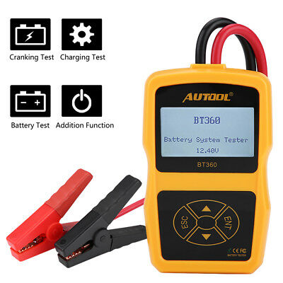 12V Automotive Load Battery System Tester Car Digital Analyzer Test Tool BT360