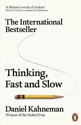 Thinking  Fast and Slow by Daniel Kahneman New Paperback Book