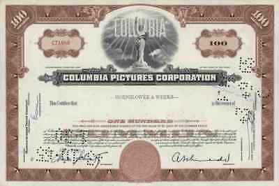 COLUMBIA Pictures 1960er Sony SPE TRI STAR Motion Coca Cola 100 Shares America