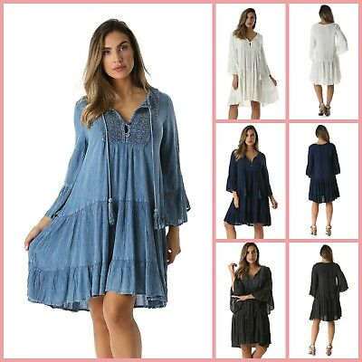 PLUS SIZE FLOWY Dress Sundress Casual Beach Dresses Bohemian ...