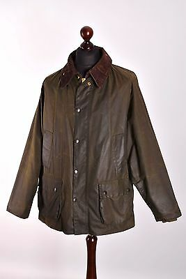 Men's Barbour Bedale Green Jacket Size C48 / 122cm Genuine Casual Waxed