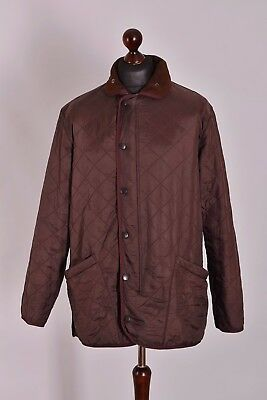 Men's Barbour Polarquilt Quilt Long Jacket Size M Genuine Casual