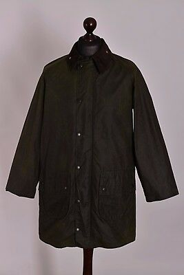 Men's Barbour Gamefair Green Jacket Size C40 / 102cm Genuine Casual Waxed