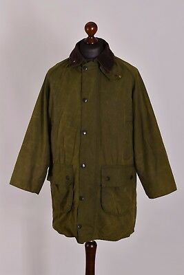 Men's Barbour Gamefair Green Jacket Size C38 / 97cm Genuine Casual Waxed