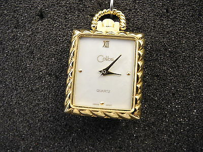 Colibri  Goldtone Mother Of Pearl   Pendant Watch  New  Reduced