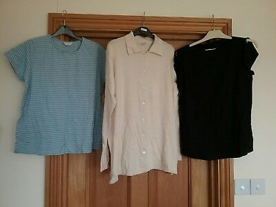 bundle of ladies mothercare maternity tops size 14