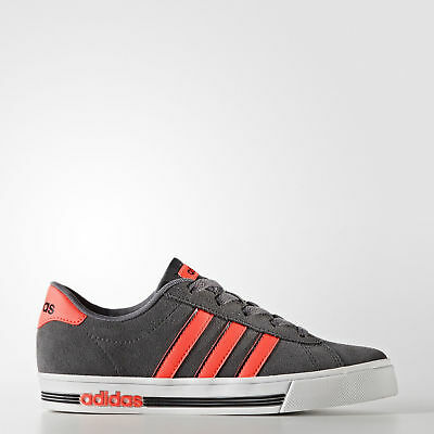 adidas shoes for kids, bright orange,metallic grey, white sole Daily Team style