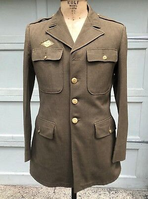 WW2 US Army TUNIC - LARGE Size 42L Enlisted Wool SERVICE COAT