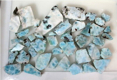Wholesale Liquidation Lot 1PoundNatural Genuine Sky Blue Larimar Slabs 423grams