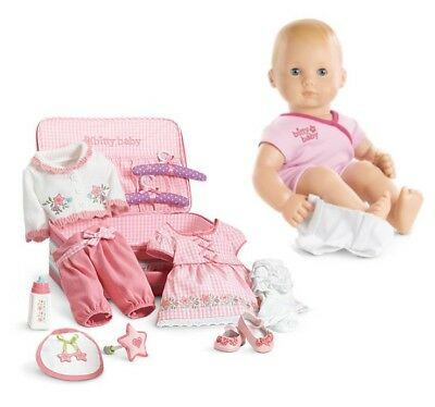 American Girl Bitty Baby Doll Deluxe Layette Collection Light blonde Blue BB3