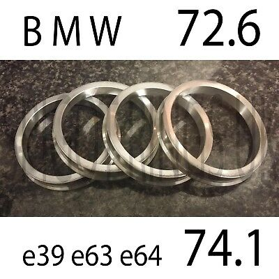 74.1-72.6 Spigot Rings Alloy Wheels Hubcentric Spacer Stainless Steel x 4