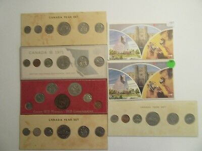 Lot of 7  Canada Year Sets, 1969,70,71,72,75,80,83