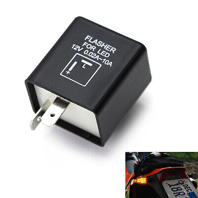 2-PIN ELECTRONIC LED Flasher Relay Fix For Turn Signal Light Fast Hyper  Flash