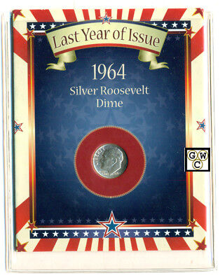 "1964 Silver Roosevelt Dime ""Last Year of Issue"" (OOAK)"