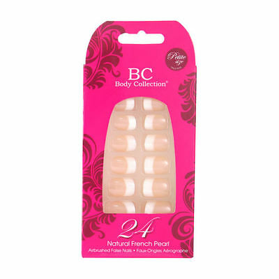 BC corps COLLECTION 24 naturel French manucure perle AIR brossé faux ongles