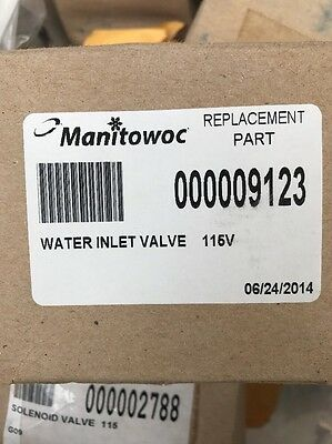 000009123 120v Manitowoc Water Inlet Valve, OEM Ice Part New Ready to Ship