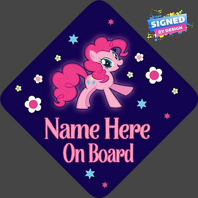 Personalised Pinkie Pie Child/Baby on Board Car Sign New ~ My little Pony