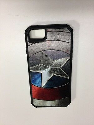 iPhone 6 7 8 Captain America Slim Armor Cell Phone Case Avengers DC Marvel