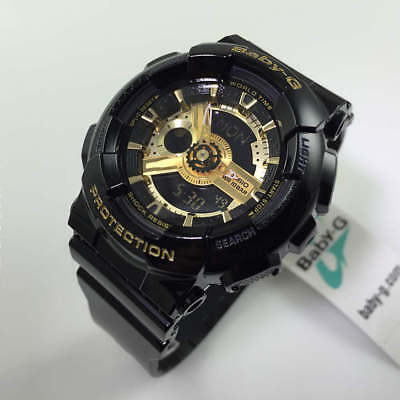 704ad2af235e CASIO BABY-G BLACK And Gold Tone Ani-Digi 3D Watch BA110-1A - $86.27 ...