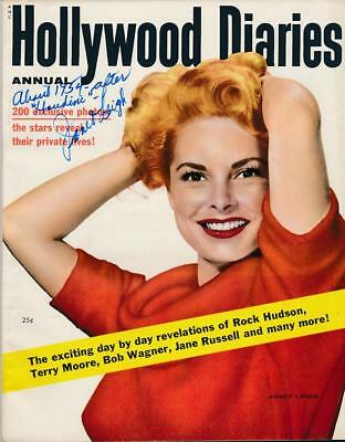 Janet Leigh- Signed 1955 Hollywood Diaries Magazine