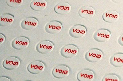 Round VOID Warranty Tamper Proof Stickers Screw Hole Security Seal 3 or 5 mm dia